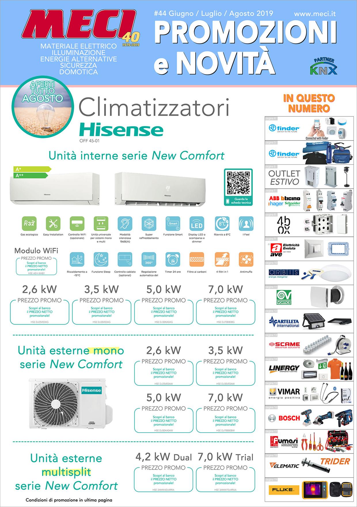 Volantino Luglio 2019 - Meci, materiale elettrico, illuminazione in Liguria