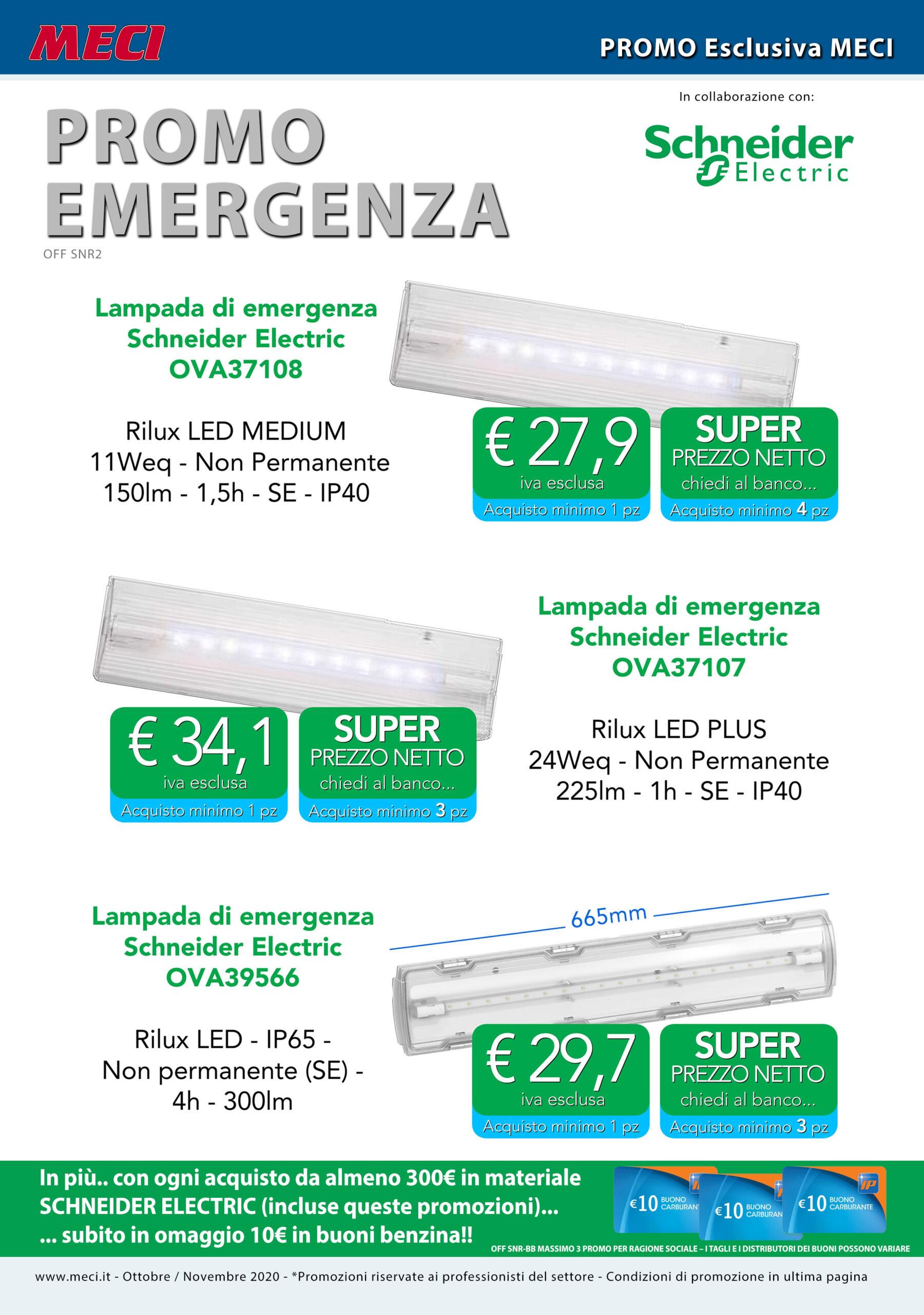 Promozione Emergenza Schneider Electric