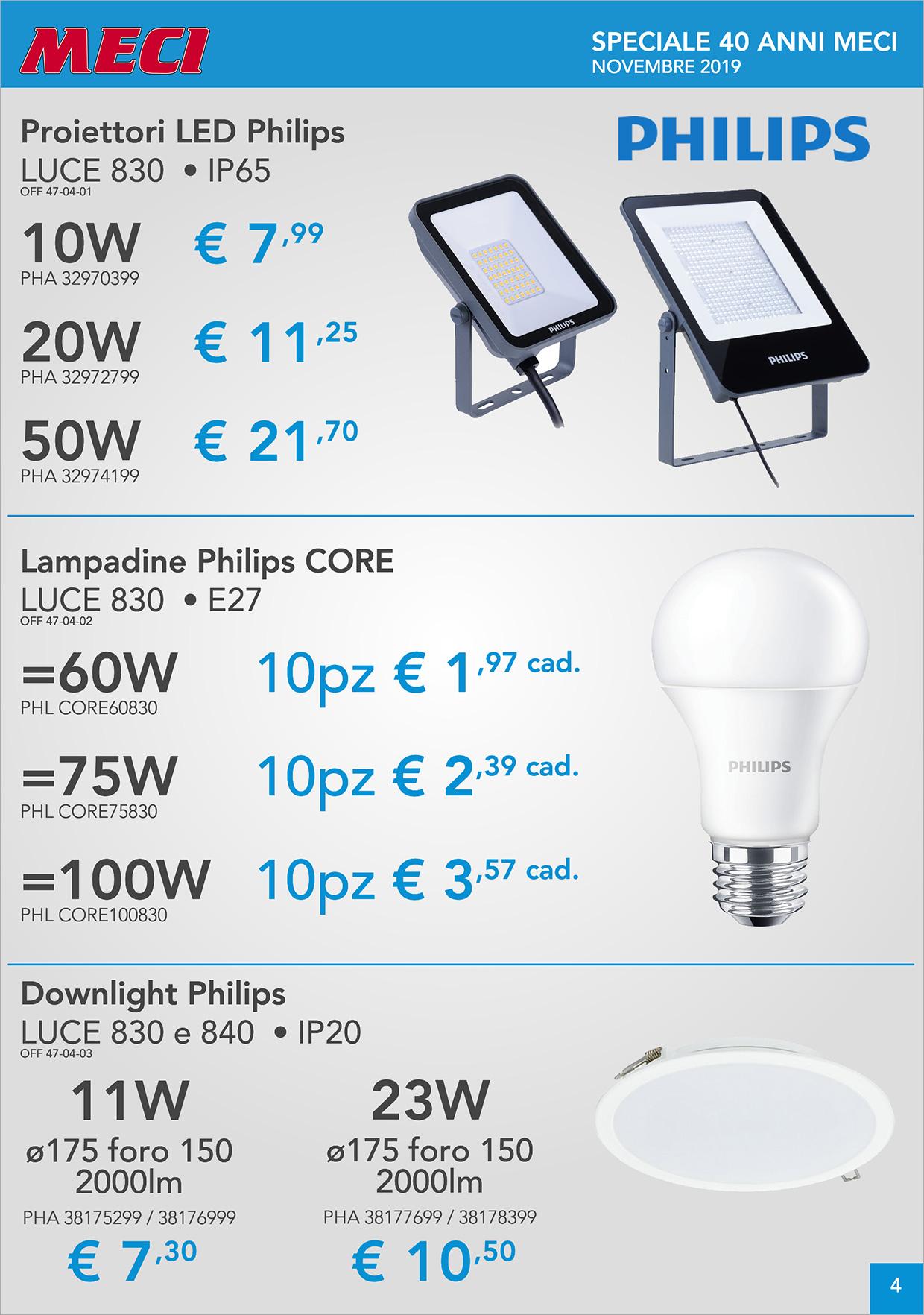 Volantino Novembre 2019 - Meci, materiale elettrico, illuminazione in Liguria